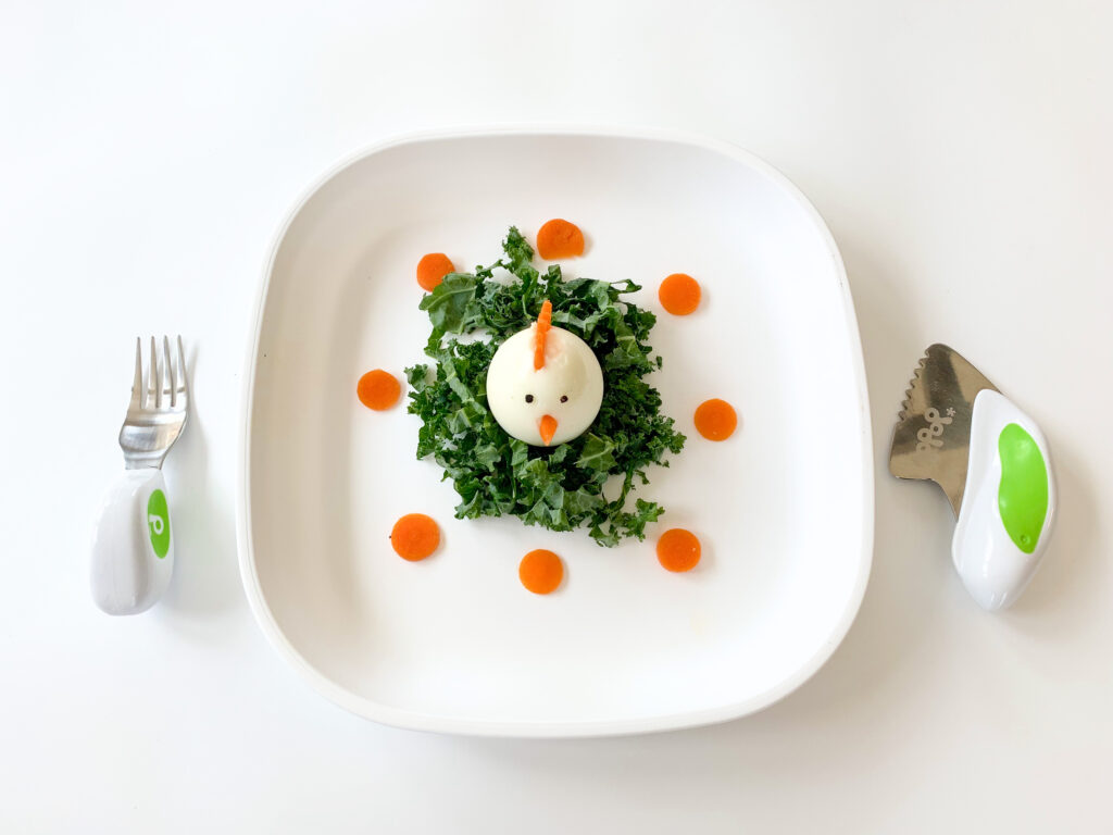 Cute chicken egg meal